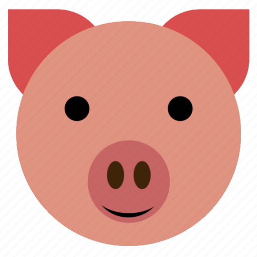 Cute, hog, pig, finance, face, happy, piggy icon - Download on Iconfinder