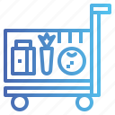 cart, shopping, store, supermarket