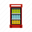 classic, cool, domestic, drinks, food, fresh, fridge icon