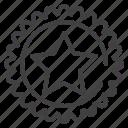 badges, best, shape, star icon