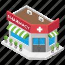 medicine market, medicine shop, medicine store, pharmacy, pharmacy architecture icon