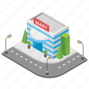 market, mart, shopping centre, shopping mall, shopping place icon