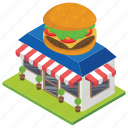 burger shop, food corner, food point, food store, restaurant