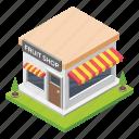 natural diet, farmer market, fruit shop, green grocesser, fruit store icon