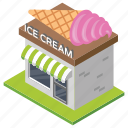 bakery, building, ice cream shop, ice cream store, shop architecture icon