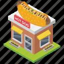 fast food, food point, food shop, hot dog shop, shop architecture