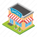 constructed building, shoes mall, shoes market, shoes shop, shoes store icon