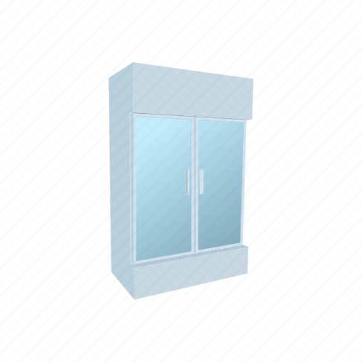 cartoon, door, food, fridge, shop, supermarket, temperature icon