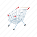 cart, cartoon, commerce, market, retail, sale, store