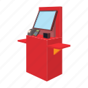 cartoon, market, payment, retail, shop, supermarket, terminal icon