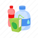 beverage, cartoon, cold, drink, juice, soda, water icon