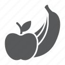 fruit, supermarket, department, product, banana, apple, fruits icon