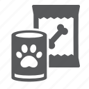 tin, supermarket, pet, department, dog, food, can icon