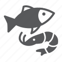 sea, supermarket, department, seafood, food, fish, shrimp icon