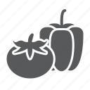 vegetables, pepper, supermarket, bell, department, product, tomato icon
