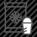 supermarket, ice, cream, frozen, food, product, department icon