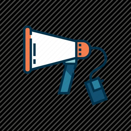 announcer, broadcast, communication, loudspeaker, megaphone, speaker icon