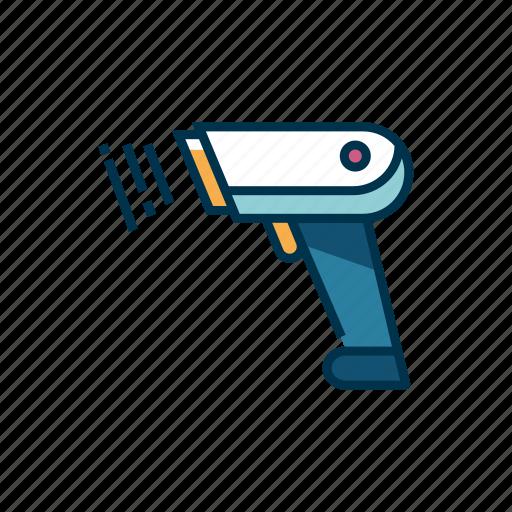 barcode, barcode scanner, reader, retail, scanner, supermarket, technology icon