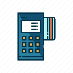 cashier, credit, credit card machine, electronic, payment, purchase, transaction icon