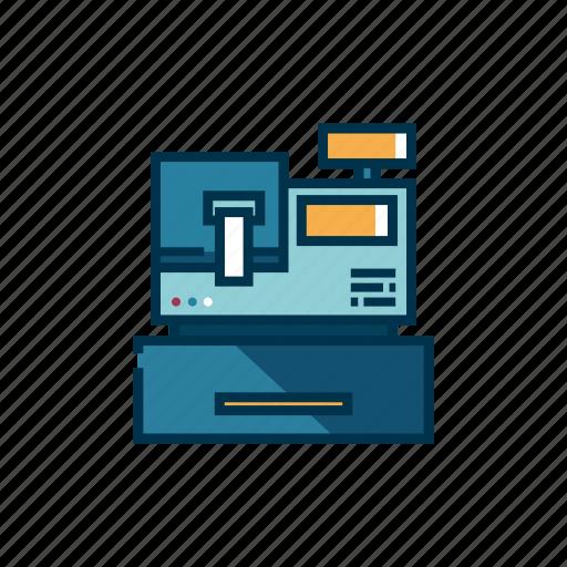 business, cash, counter, machine, money register, payment, service icon