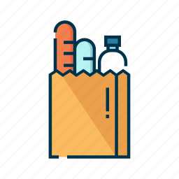 buy, merchandise, paper, shopping, shopping bag, store icon