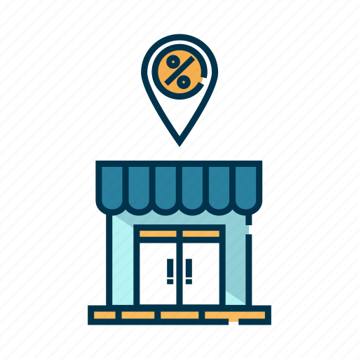 building, mall, market, retail, shop, store icon