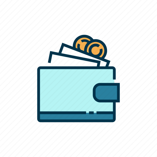 cash, money, payment, purse, shopping, wallet icon