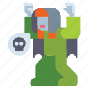 banshee, ghost, halloween, scary icon