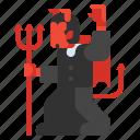 character, devil, evil, satan icon