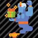genie, halloween, monster, supernatural icon