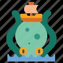 creature, kraken, monster, octopus