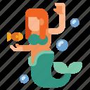 creature, legend, mermaids, myth icon