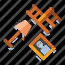 furniture, horror, poltergeist, scary icon