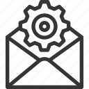 cog wheel, customer service, email, gear, settings, support icon