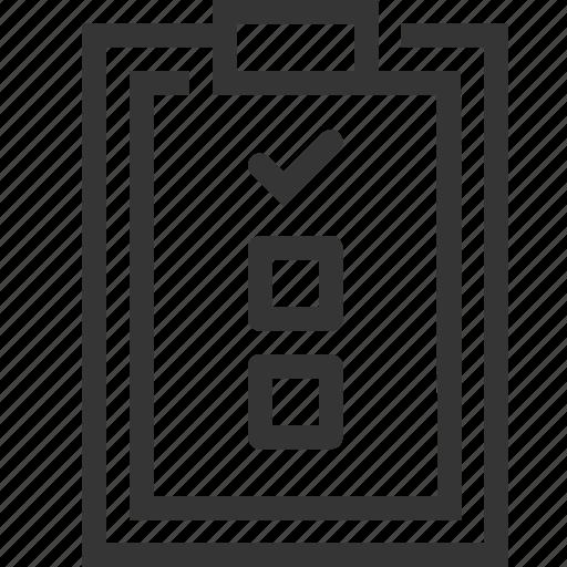 checkmark, clipboard, list, survey, tasks icon