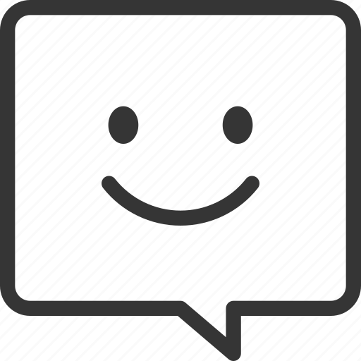 chat bubble, customer service, emotion, satisfaction, smile, talk icon