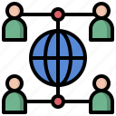 circles, networking, network, media, share, connector, social icon