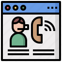 commerce, conversation, telephone, phone, call, technology icon
