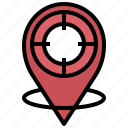 map, target, pin, aim, location, pointer, gps icon