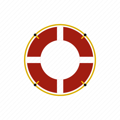 belt, buoy, emergency, help, lifebuoy, protection, swim icon