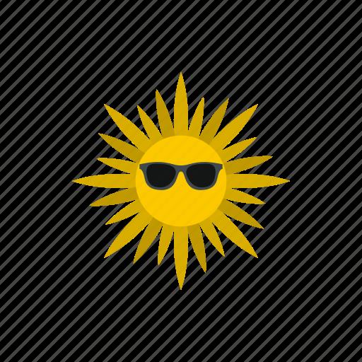 heat, hot, sun, sunburst, sunglasses, sunlight, sunshine icon