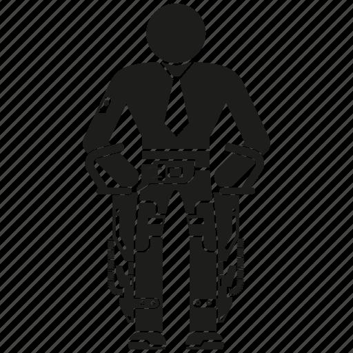 android, human, humanoid, robot, robotics, technology icon