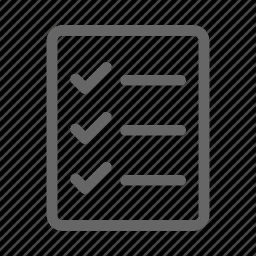 Checklist, survey, tasks icon - Download on Iconfinder