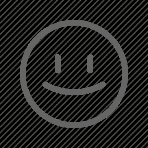 emoji, emoticon, happy, smile, survey icon