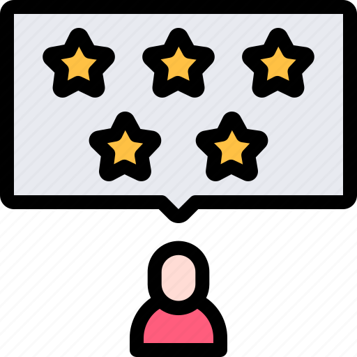 audience, five, online, polling, stars, survey icon