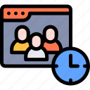 audience, online, polling, schedule, survey icon
