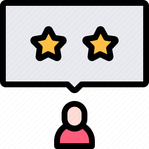 audience, online, polling, star, survey, two icon