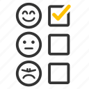 choice, comment, feedback, questionnaire, satisfy, survey icon
