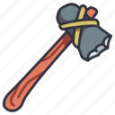 axe, survival, equipment, outdoor, tool, wood, wooden icon