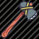 axe, survival, equipment, outdoor, tool, wood, wooden
